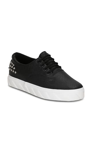Get Glamr Black Sneakers & Sports Shoes