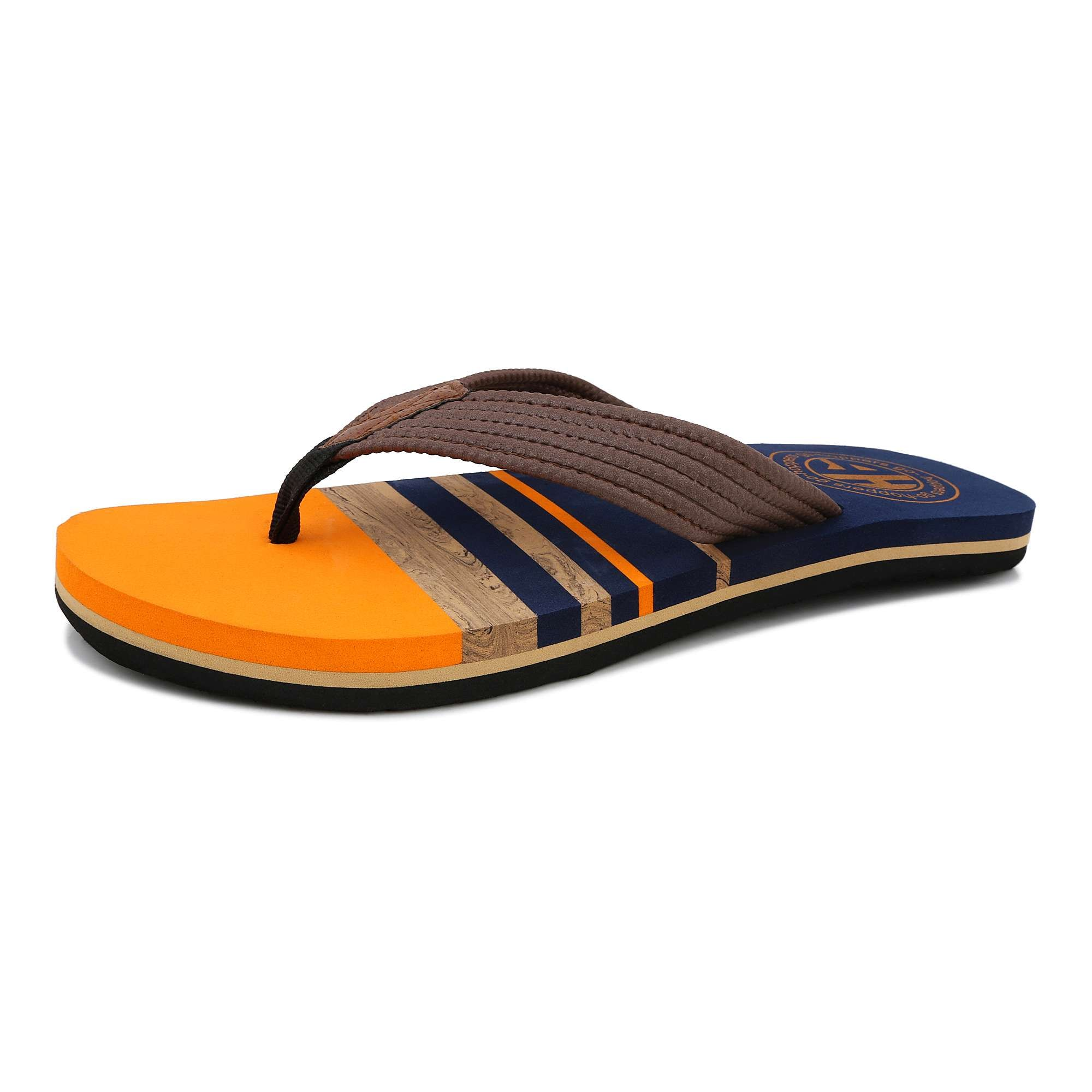 947fdb436 Buy Hoppers Go Men s Striped Thong- Style Flip- Flops