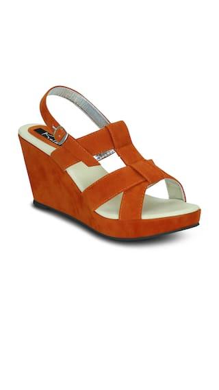 Kielz-Orange-Wedge-Sandals