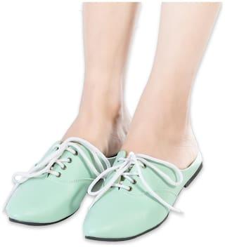 LIVIVA Women Sea-Green Color Back Open Shoe