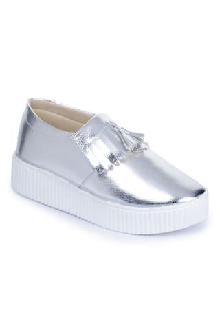 Naisha Women Casual Silver Shoes