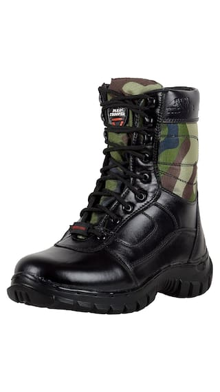 Para Trooper Combat Leather Army Boot PT095 For Men