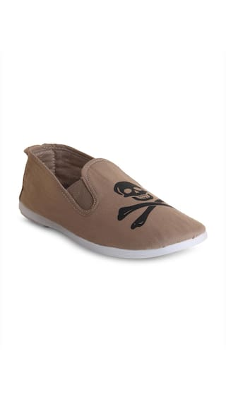 Scentra Beige Canvas Casual Shoes