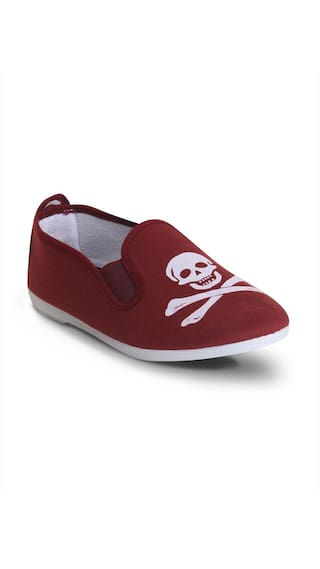 Scentra Wine Canvas Casual Shoes