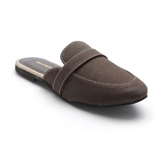 Scentra Women's Brown Casual Slip on Shoes