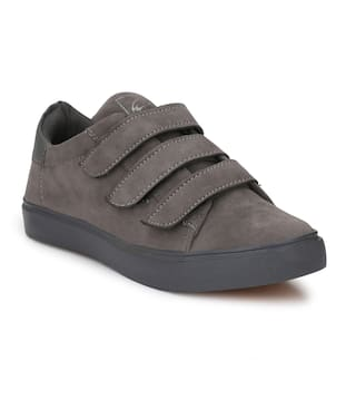 SHOE DAY GREY VELCRO SNEAKERS FOR MEN RC1010GREY