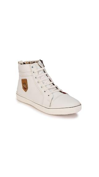 ZebX Men White Sneakers