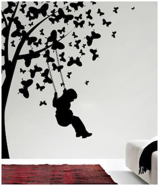 Decor Kafe Boy Under Tree Wall Decal