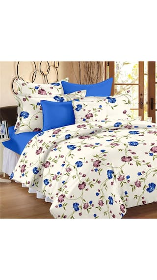 Ahmedabad Cotton Comfort Cotton King Size Bedsheet with 2 pillow covers