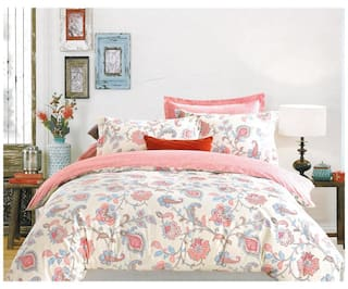 Ahmedabad Cotton Aspire Cotton Sateen Double Bedsheet with 2 Pillow Covers