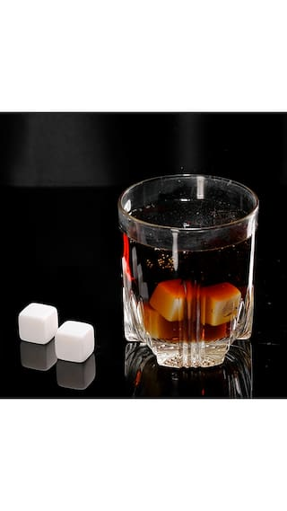 Anself 6pcs 18mm Whisky Ice Stones Drinks Cooler Cubes Beer Rocks Granite with Pouch