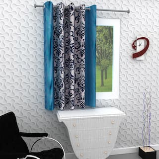 Homely Single Window Curtain - 5 Ft