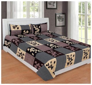 Morado 400 TC 100% Cotton Double Bedsheet with 2 Pillow Covers