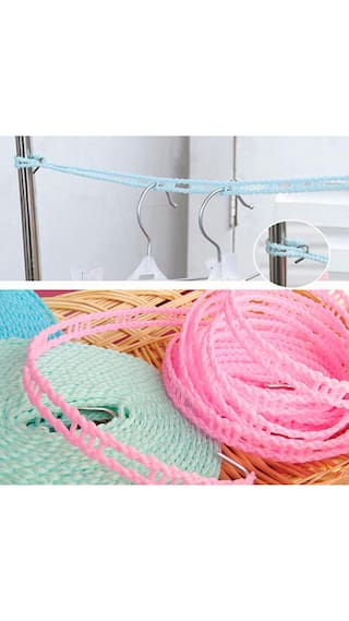 Outdoor Clothes-line Plastic Wind-proof Fence Type Nylon Anti-skid Drying Clothes Hanger Rope