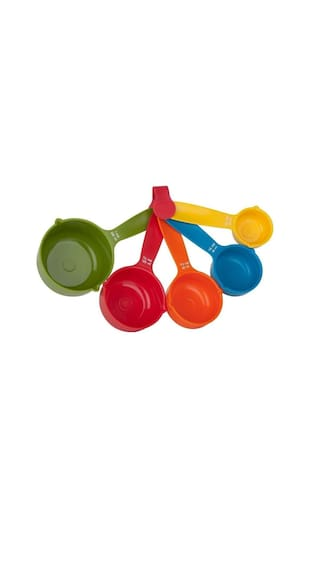 set of 5 pcs Yangli Multicolor Kitchen Cooking Baking Measuring Spoons Cup set - Assorted