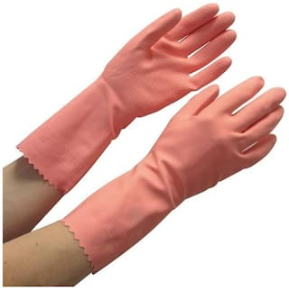 Surf Household Cleaning Flocklined Non-slip Grip Hand Gloves -