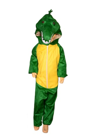 Anmol Dresses Indi AD Crocodile Fancy Dress for 7 Year Kids|Crocodile Costumes| USE for School COMPETETIONS,Events & Annual Functions Kids Costume Wear