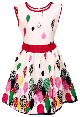 Arshia Fashions Girls Cotton Frock Dress