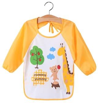 Baby Toddler Kids Long Sleeve Art Smock Bib Waterproof Apron