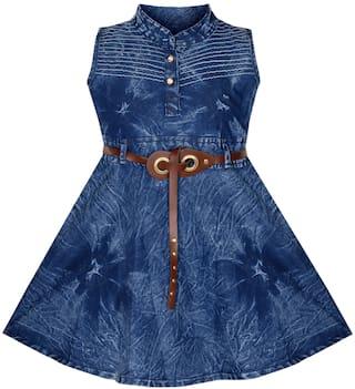 BENKILS Cute Fashion Baby Girl's Infant Denim Party Wear Frock Dress