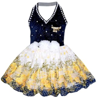 Benkils Cute Fashion Baby Girl's Velver and Net Frock Dress For