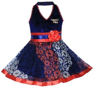 Benkils Fashion Kids Girls Baby Dress for Princess Velvet and Soft Net Frock Dress for