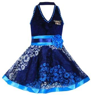 Benlkils Cute Fashion Kids Girls Baby Dress for Princess Velvet and Soft Net Frock Dress For