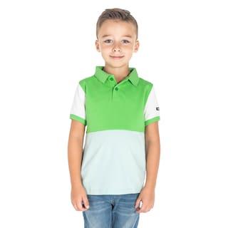 Cherry Crumble Boy Cotton Colorblocked T-shirt - Green