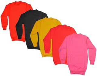 IndiStar Boy Wool Solid Sweatshirt - Multi
