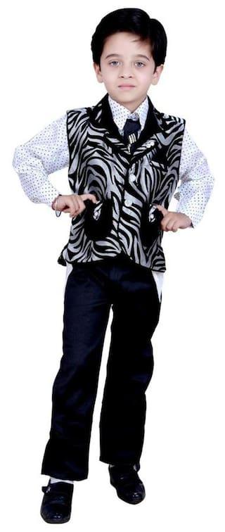 Kids ethnic dresses baby clothing boys Shirt Pant Waistcoat & Tie