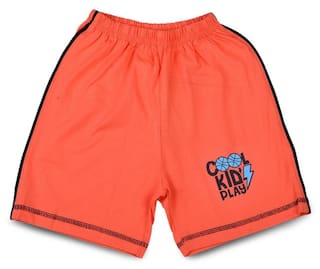 LK Vyapaar Kidswear Orange Shorts for Boys Girls 2 Years-5 Years