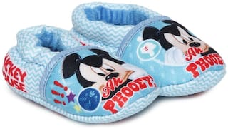Mickey Blue Booties For Infants