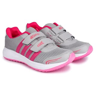 N Five GirlsComfortable & Stylish Indian Footwear-L3_NEW_L.GREY_PINK_7