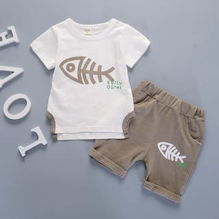 e909640cea85 Buy SUGAR RUSH Adorable Baby Boy and Boy s Brown Half Sleeves with ...