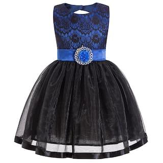 b073fa58b89e Buy SUGAR RUSH Stunning Girl s Blue Lace Bow Decor Backless ...