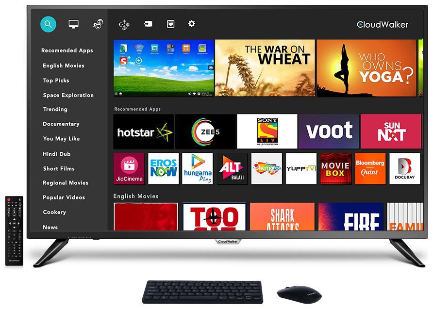 CLOUDWALKER Smart 109 cm  43 inch  4K  Ultra HD  LED TV   43SUA7