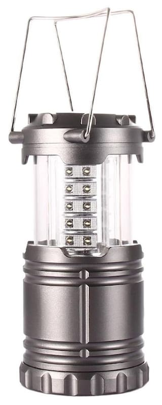 Camping Lantern Hiking Light 30 LED Lamp Portable 2 Color Available Grey # International Bazaar