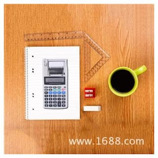 12-Digit Printing Calculator EU Plug With Tax Rate Calculation / Percentage Calculation / Subtotal / Total / Round-off Function