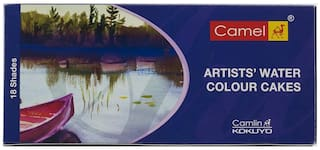 Camlin Artist Water Colour Cake Box 18 Shades