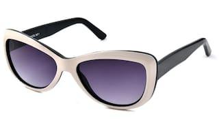 Scott Cream And Black Cat Eye Sunglasses