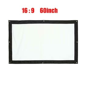 16:9 Projection Screen Indoor Outdoor Film Theater Home Movie Curtain Canvas