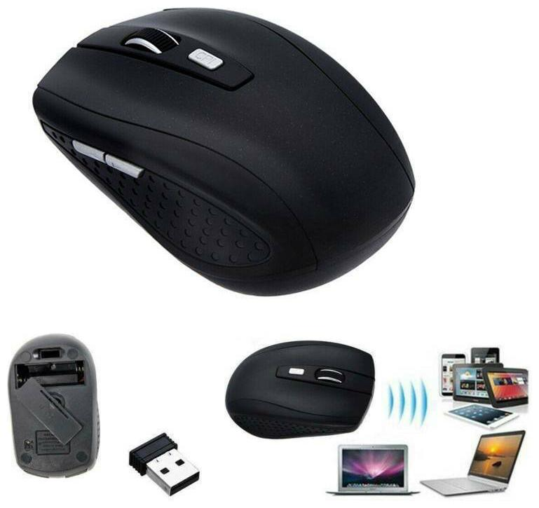 2.4GHz Wireless Mouse Cordless Optical Gaming  Mice + USB Receiver for PC Laptop