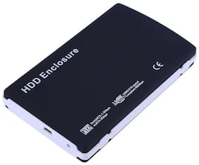 2.5 Inch USB 2.0 to SATA HDD Hard Drive External Enclosure Case Hard Disk Drive HDD for Windows Black 2TB Mobile HDD Enclosure
