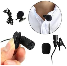 3.3FT Braided Wire Lavalier Lapel Tie Clip-On Microphone Mono 3.5mm Mic