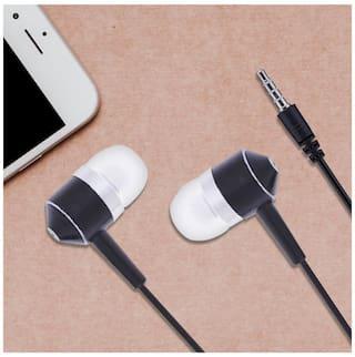3.5mm Line Control In-ear Heavy Bass Stereo Earbud Earphone With MIC(Black)