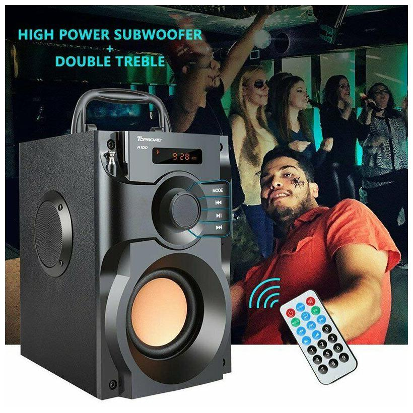 360 ° Surround Sound Bluetooth Speaker LCD Home 3D Stereo Subwoofer MP3 Player FM by Stelcore