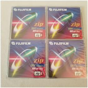 4 FujiFilm Zip Disks IBM Formatted 100 Mb Disk New 100mb Sealed