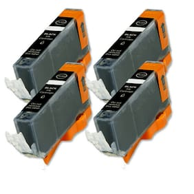 4 PK Black Printer Ink Compatible for CLI 221BK Pixma MP640 iP3600 iP4700 MP560