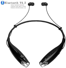 4UONLY HBS-730 Wireless Bluetooth Headset Sweatproof 4UO412 In-Ear Bluetooth Headset ( Assorted )