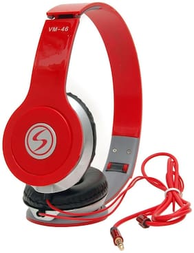 5PLUS 5php1 On-ear Wired Headphone ( Red )